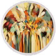 Christian Art- Angels Guiding Lot. Genesis 19 15 Round Beach Towel by Mark Lawrence