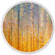 Christian Art- Everyone Who Calls. Romans 10 13 Round Beach Towel by Mark Lawrence