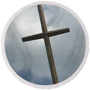 Christian Cross Round Beach Towel