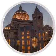 Christian Science Center 2 Round Beach Towel by Mike Ste Marie