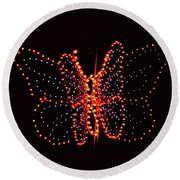 Christmas Butterfly Round Beach Towel