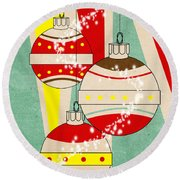Christmas Card 6 Round Beach Towel