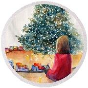 Christmas  Round Beach Towel by Carlin Blahnik