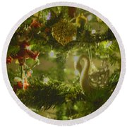 Round Beach Towel featuring the photograph Christmas Cheer by Cassandra Buckley