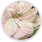 Round Beach Towel featuring the painting Christmas Classic by Barbara Jewell
