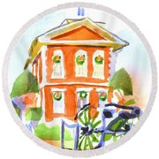 Christmas Courthouse II Round Beach Towel