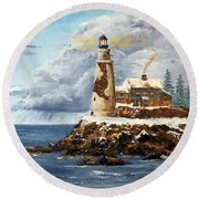 Christmas Island Round Beach Towel by Lee Piper