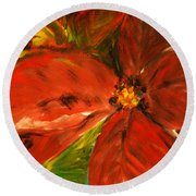 Round Beach Towel featuring the painting Christmas Star by Jasna Dragun