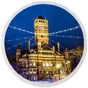 Christmas On The Square Round Beach Towel