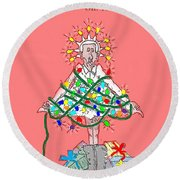 Christmas Spirit Round Beach Towel