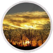 Christmas Sunrise Round Beach Towel