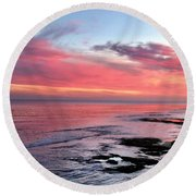 Christmas Sunset Round Beach Towel