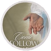 Christ's Hand Round Beach Towel