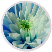 Chrysanthemum Round Beach Towel by Scott Carruthers