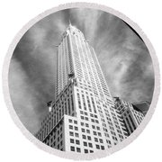 Chrysler Building Infrared Round Beach Towel