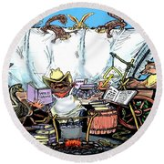 Chuckwagon Round Beach Towel
