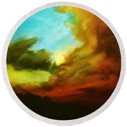 Chuluota Sunset 2 Round Beach Towel