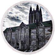 Church At Boston College Round Beach Towel