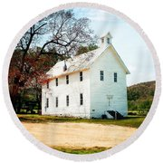 Round Beach Towel featuring the photograph Church At Boxley by Marty Koch