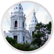Church In Puerto Rico Round Beach Towel by DejaVu Designs