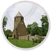 Church Of Avasi Rehely Round Beach Towel