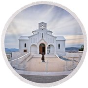 Church Of Croatian Martyrs In Udbina Round Beach Towel