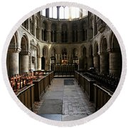 Church Of St Bartholomew The Great Round Beach Towel