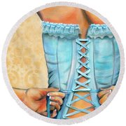 Cinched And Beautiful Round Beach Towel