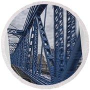 Cincinnati Bridge Round Beach Towel by Daniel Sheldon