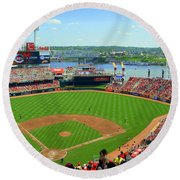 Cincinnati Reds Stadium Round Beach Towel