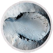 Cinder Cone On The Southern Flank Of Pavonis Mons Volcano In Mars Round Beach Towel