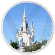 Cinderella's Castle - Disney World Orlando Round Beach Towel