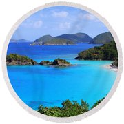 Cinnamon Bay St. John Virgin Islands Round Beach Towel