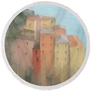 Cinque Terre Round Beach Towel by Steve Mitchell