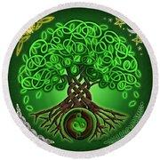 Circle Celtic Tree Of Life Round Beach Towel