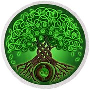 Circle Celtic Tree Of Life Round Beach Towel