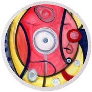 Circle For Lovers Round Beach Towel