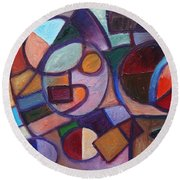 Circle Speaker Round Beach Towel by Jason Williamson
