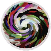 Circled Car Round Beach Towel