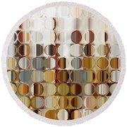 Circles And Squares 36. Modern Abstract Fine Art Round Beach Towel by Mark Lawrence