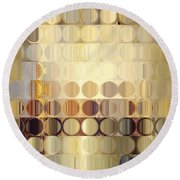 Circles And Squares 37. Modern Abstract Fine Art Round Beach Towel by Mark Lawrence