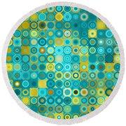 Circles And Squares 6. Modern Home Decor Art Round Beach Towel