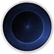 Round Beach Towel featuring the drawing Circles Don't Exist Pi 180 by Jason Padgett