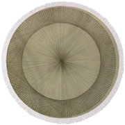 Round Beach Towel featuring the drawing Circles Don't Exist Two Degree Frequency by Jason Padgett