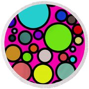 Circles Galore Round Beach Towel
