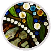 Circles Of Glass Round Beach Towel