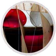 Circles Within Circles - Inside A Hot Air Balloon Round Beach Towel