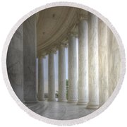 Circular Colonnade Of The Thomas Jefferson Memorial Round Beach Towel