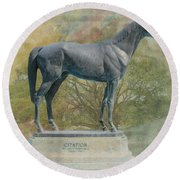Citation Thoroughbred Round Beach Towel