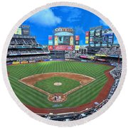 Citi Field - Home Of The N Y Mets Round Beach Towel